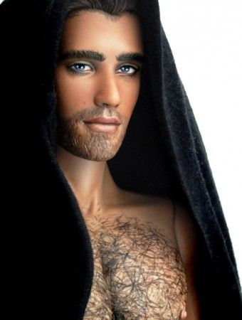 About Alejandro: Alejandro a handsome guy with hairy chest and anatomically correct, a ooak doll made by Alex Pedreira.
