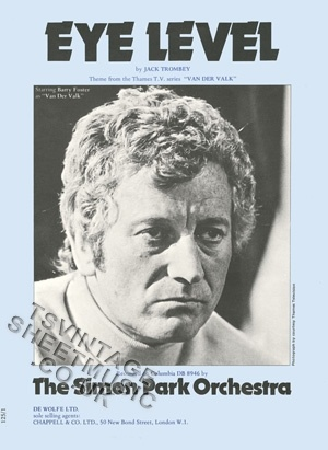 Van der Valk TV Series - Theme music: Eye Level....I can play this on the recorder!!!!