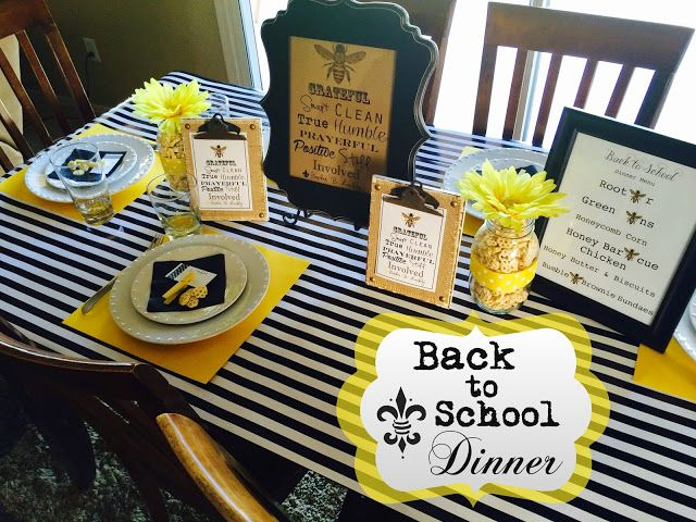 Our 2015 Annual Back to School Dinner. From Marci Coombs Blog