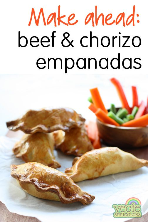 Beef & chorizo empanadas - delish! leftovers great cold in lunchboxes, too!