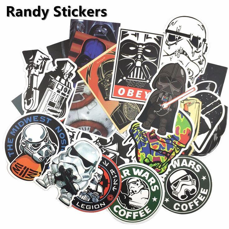 Star Wars 25 kinds waterpoof fuel cap creative sticker for Skateboard Laptop Luggage Fridge Phone Styling home car Sticker