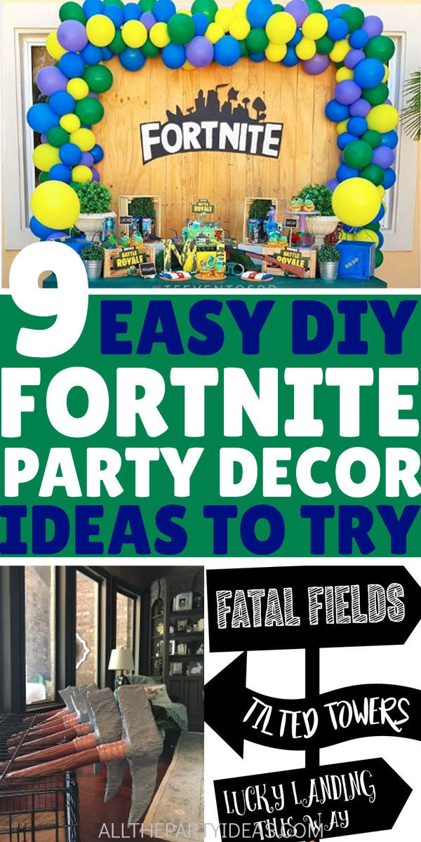 Fortnite Party Supplies And Decoration Ideas Cheap Birthday Party Diy Birthday Decorations Boys Birthday Party Decorations