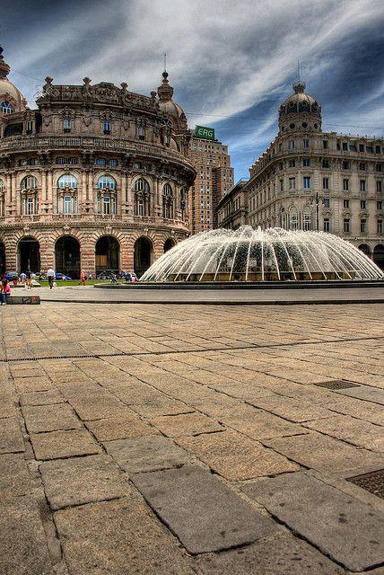 Piazza De Ferrari - Genoa, Liguria, Italy