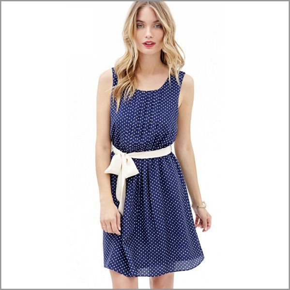 2015 Brand New Women Dress Summer Dress Chiffon Casual Sleeveless Dress Beach Polka Dot Blue Vintage Plus Size Vestidos BG 2699-in Dresses from Women's Clothing & Accessories on Aliexpress.com | Alibaba Group