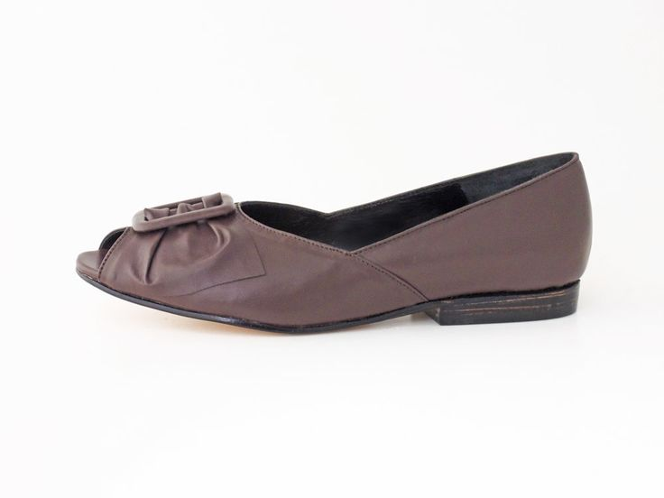 Bow Flat in Chocolate #pzdvintage