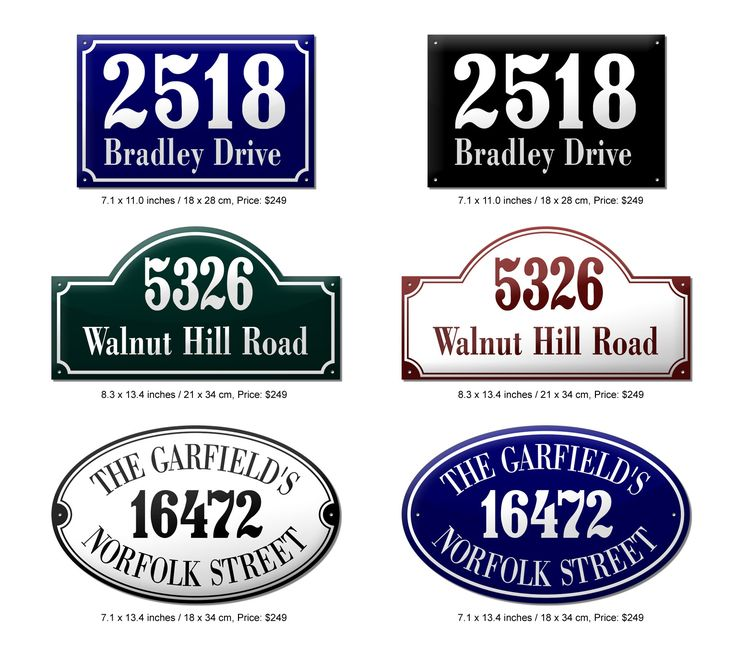 Enamel sign designs made using Photoshop