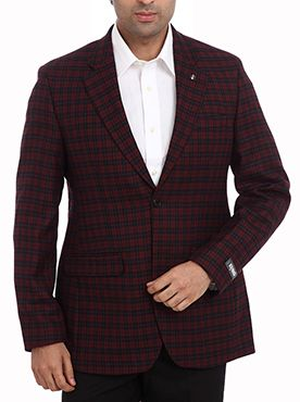 The Raymond London Diary Men Maroon Formal Jacket is an impeccably tailored two-button suit. Stay stylish by buttoning the top one and leaving the other undone. Sporting a charming and unique check pattern, its dark maroon color further adds a captivating charm to this jacket. Fabricated with rich wool, this jacket is comfortable to wear all day long. Additionally, the modern fit of this jacket surely complements a variety of trousers. Choose the best shirt and tie combination for a complete…