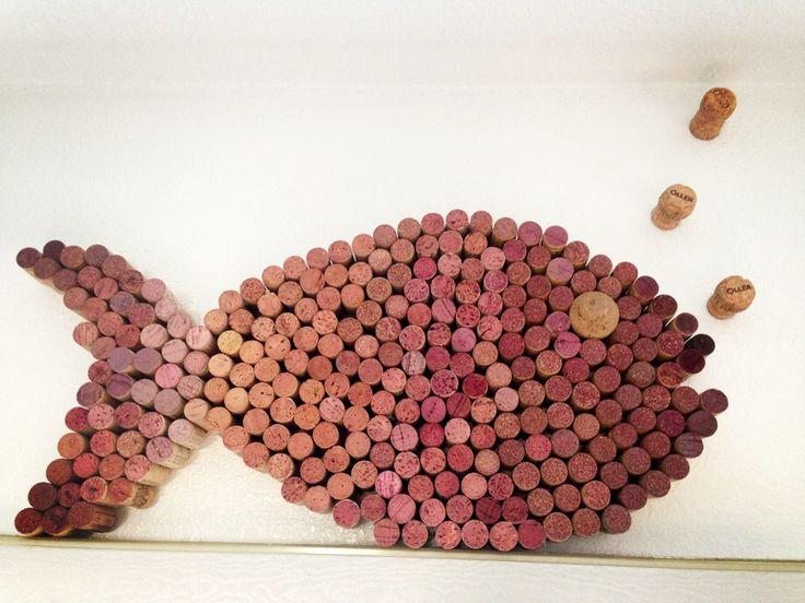 Wine cork fish! Sebastian and I got crafty :)