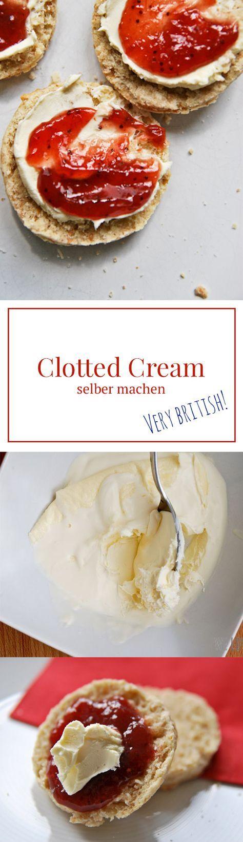 Clotted Cream selber machen - geht ganz einfach, perfekt für einen echt britischen Afternoon Tea und zu Scones. Rezept von www.we-love-pasta.de
