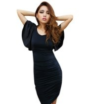 Krazy Sexy Club Cocktail Party Evening Dress #373 Black S M L