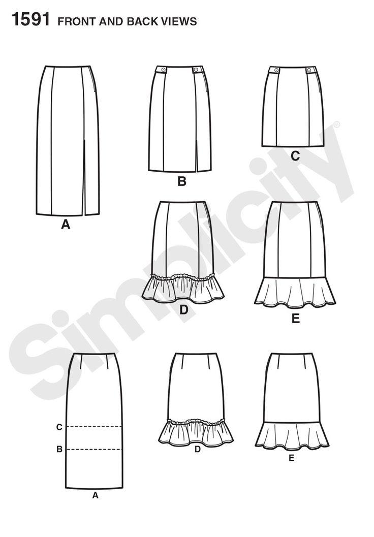 21 best Pencil skirt no waistband images on Pinterest