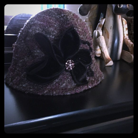 Purple Tweed-Velvet bow - John Callanan Legacy Hat Purple Tweed w/ Velvet Bow - John Callanan Legacy Hat. Preloved - excellent condition - only worn once. John Callanan Accessories Hats