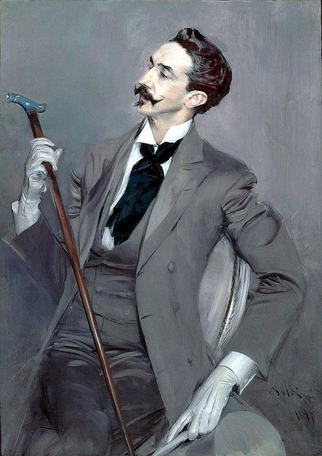 Count Robert de Montesquiou, 1897 // painting by Giovanni Boldini | Flickr by Gandalf's Gallery