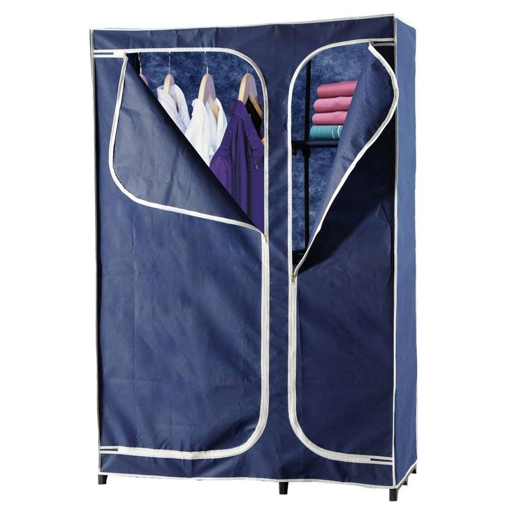 Heels Above 43-inch Portable Wardrobe Closet (Blue) (Metal)