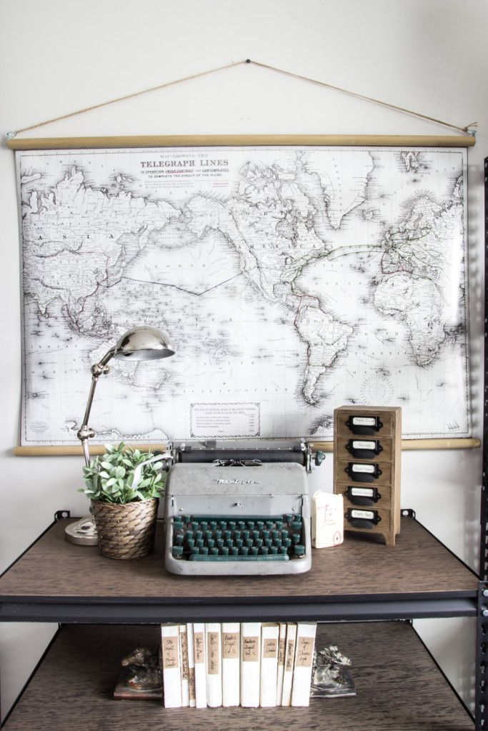 Diy Vintage Pull Down Map Blesserhouse Com Great Cheap Alternative To The Real