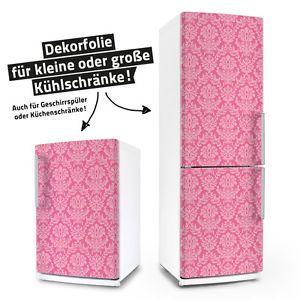 Ornamente rosa pink - 180cm Kühlschrankaufkleber Aufkleber Kühlschrank Dekor