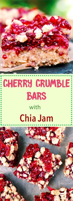 The Tasty K | Cherry Chia Crumble Bars |