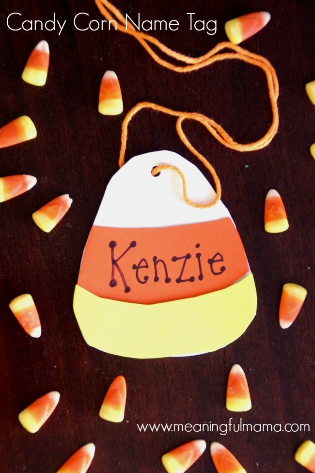 Candy Corn Name Tag