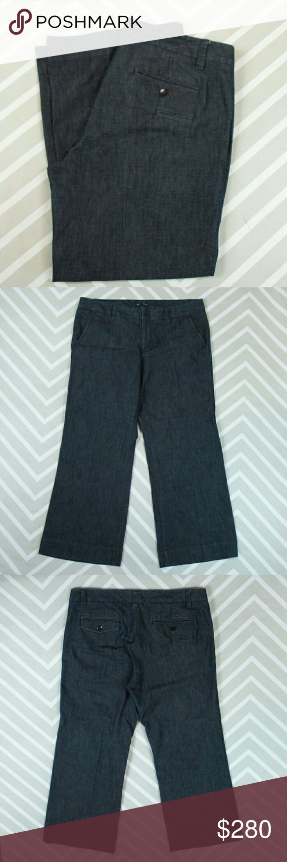 ✂ Gap trouser jeans 14R Dark denim trousers with extra back coin pocket. Excellent condition.  Approx. Measurements in inches Waist 38 Low Hip 44.5 Front rise 10.5 Back rise 16.75 Inseam 29  No trades. GAP Pants Trousers