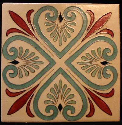 A Large Persian Inspired Tile By Flint Faience