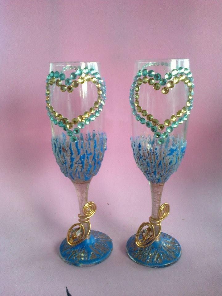 Mejores 90 im genes de mis dide os de copas decoradas a for Copas decoradas a mano