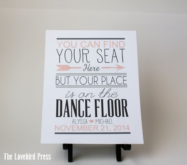 Printable Wedding Seating Plan Dance Floor by TheLovebirdPress, $8.00