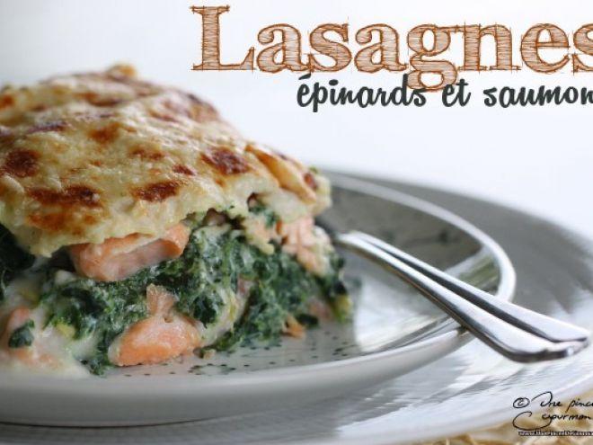 Recette Lasagnes aux épinards et au saumon