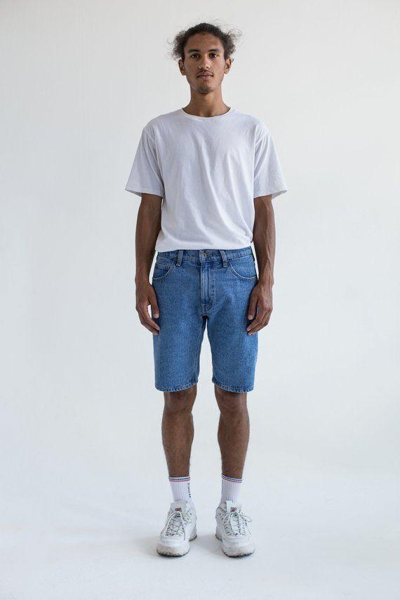 80s jean shorts men