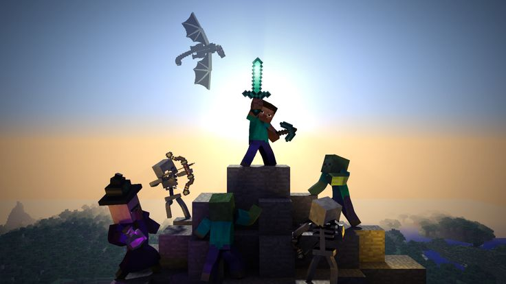 This is a HD 3D Minecraft wallpaper that I worked on. I