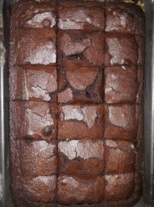 SJOKOLADE FUDGE BROWNIES