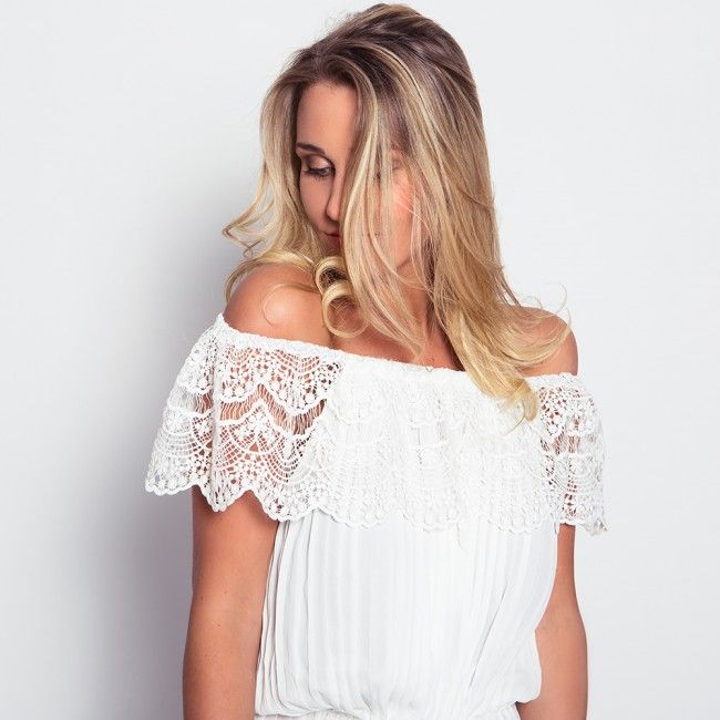 Fiësta Lace Off-Shoulder Top - Now available @ www.myfavouritemusthaves.com #newarrivals #ibiza #musthaves