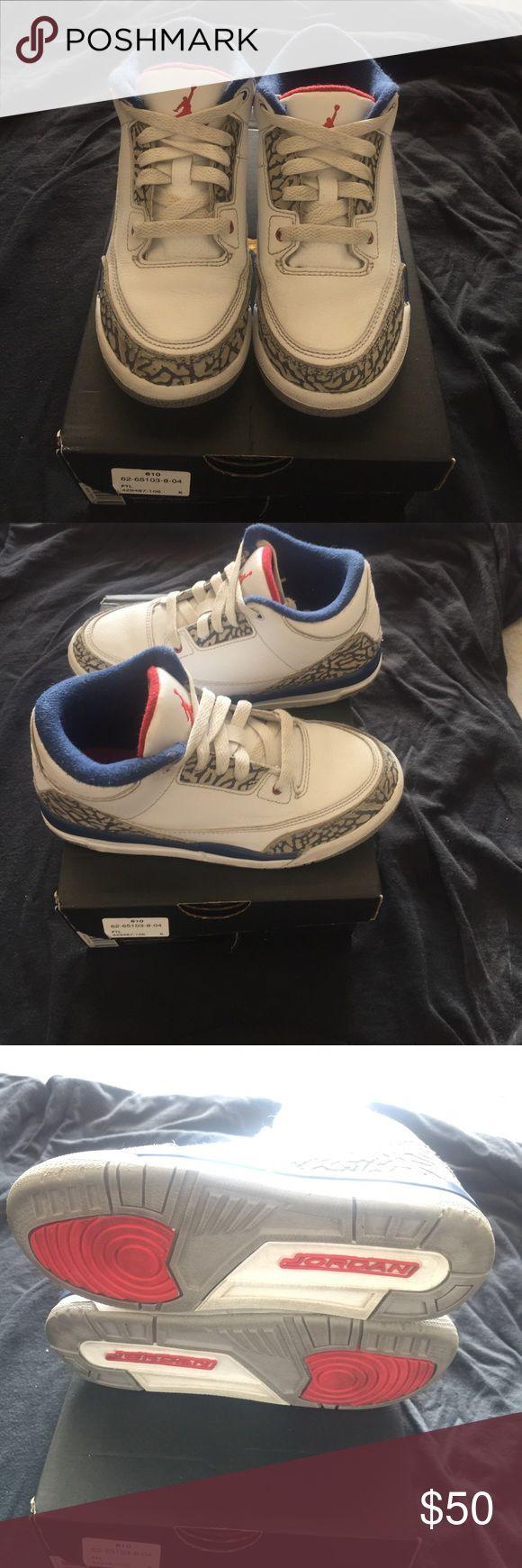 Jordan Retro 3s size 1y Excellent condition size 1y Jordan 3s Air Jordan Shoes Sneakers