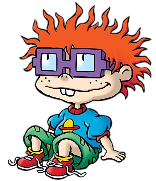 Tommy Pickles Ice Cream Tattoo On His Face: Rugrats Chuckie Sitting Down In 2020