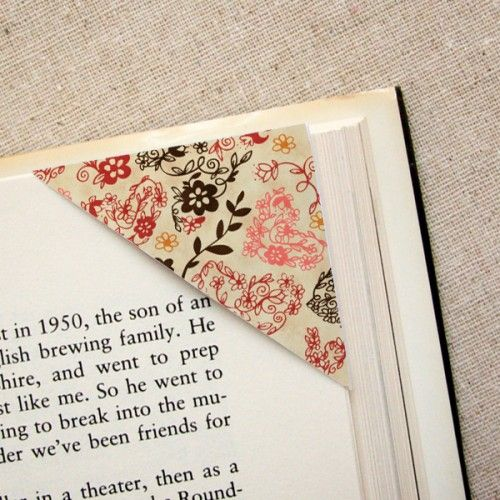 Pretty paper! Page corner savers. Love It.  Since I read a lot I will be making this!