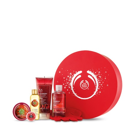 Strawberry Shower, Scrub & Soften Deluxe Gift | The Body Shop ®