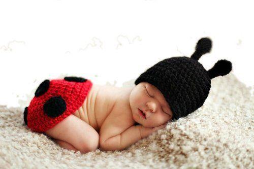 Eozy Bébé Costume de déguisement animal - Bonnet Chapeaux bébé chouette en crochet pour 3-6 mois Nouveau-né Garçon Fille Photographie Photo-coccinelle aimable de Eozy, http://www.amazon.fr/dp/B00CJ382MY/ref=cm_sw_r_pi_dp_sZt7rb0MQH821
