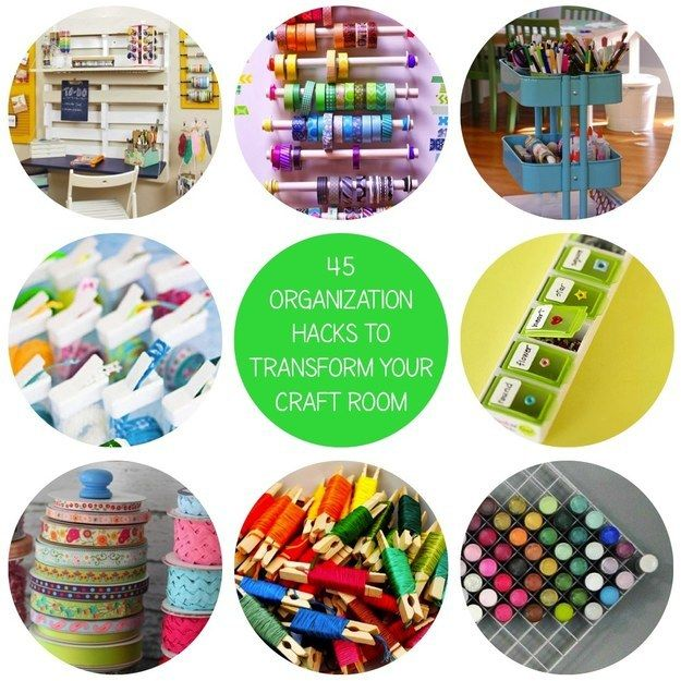 Community Post: 45 Organization Hacks To Transform Your Craft Room