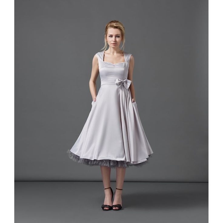 Gracie May Grey Occasion Dress   Vintage Style Dresses - Lindy Bop
