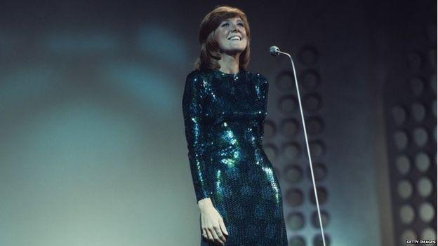 Cilla Black performing