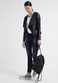 Noisy May - NMHOUSE - Giacca in fintapelle - black