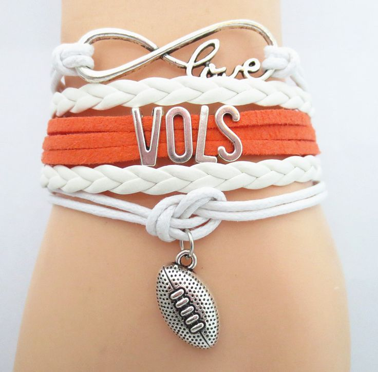Infinity Love Tennessee Vols Football - Show off your teams colors! Cutest Love Tennessee Vols Bracelet on the Planet! Don't miss our Special Sales Event. Many teams available. www.DilyDalee.co