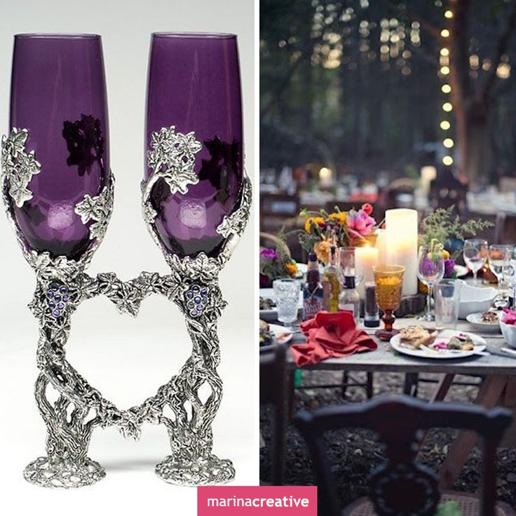 #Wedding #glasses: ideas for decorating