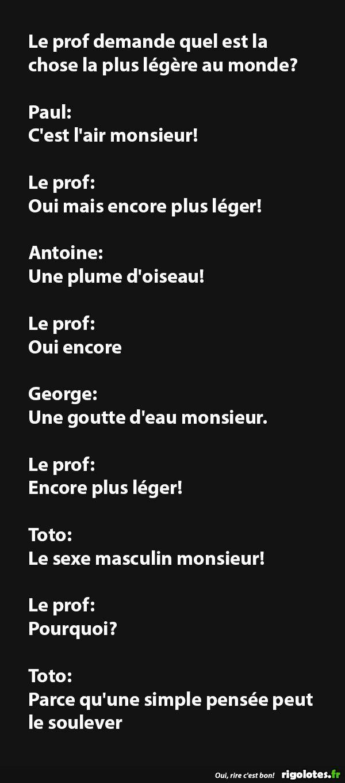 Le prof demande quel est la... - RIGOLOTES.fr