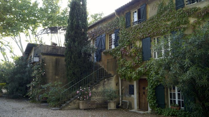 Our lodging at Domaine de Rhodes  a ancient hunting lodge of 16th century in the shade of hundred year old plane trees.