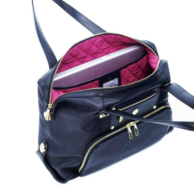 "Women's Lola Shoulder Handbag 15"" Laptop Bag Black - my workbag <3"
