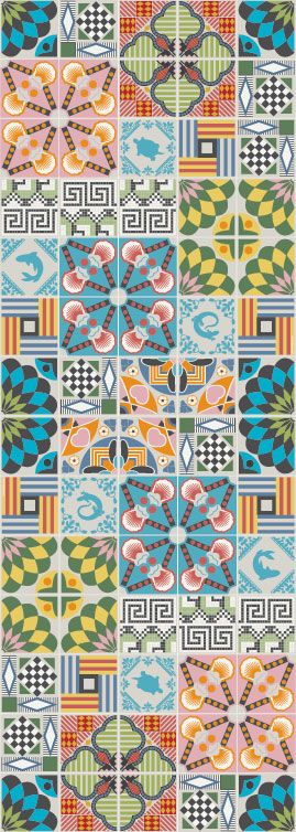 pattern Handmade tiles can be colour coordinated and customized re. shape, texture, pattern, etc. by ceramic design studios #tiles