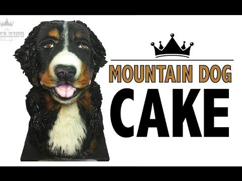 How to make a Bernese Mountain Dog Cake Topper - Cake Decorating Tutorial - YouTube