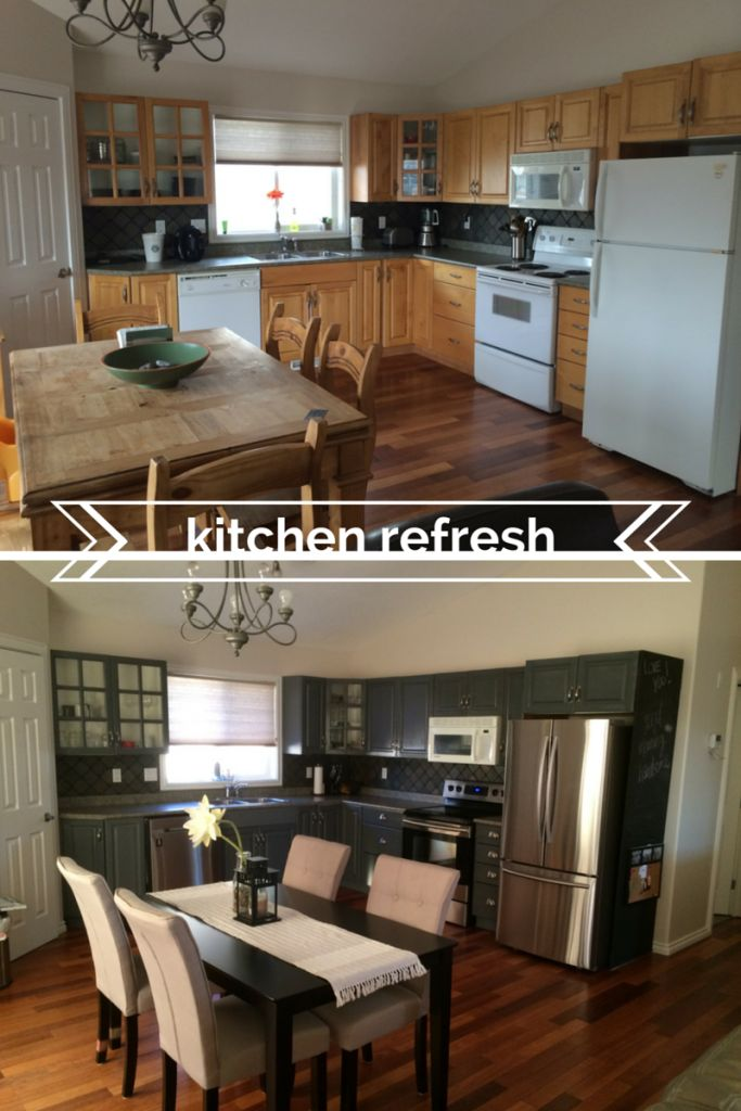DIY Kitchen Renovation On A Budget. Painted Cabinets, Painted Kitchen  Cabinets, Spray Paint