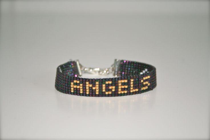 "Mooie geweven armband ""Angels"" van kleine Miyuki kralen!"