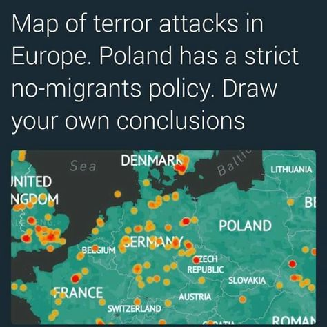 A wise leader was elected and put a stop to the 7k immagrants who the previous leader promised to take in because of VETTING CONCERNS and the terrorist attacks that have happened in other EU countries... haven't seen any news about Poland being attacked by Muslim terrorists..guess we now know why!
